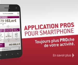 L'application PROs pour smartphone