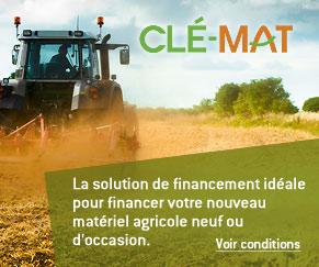 Acquisition de matériel agricole neuf ou d'occasion, découvrez la solution de financement Clé-mat