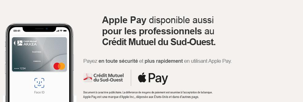 Apple Pay Pro disponible aussi pour les professionnels au Crédit Mutuel du Sud-Ouest